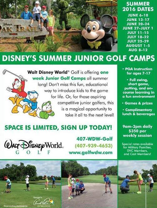 Golf Camp flyer