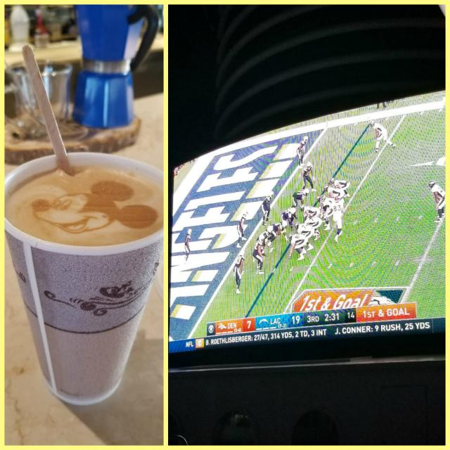 Coffee and NFL on the funnel